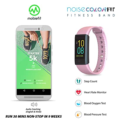 Noise Colorfit Fitness Band - Pink with Run 5k Training Program (Lifetime  Access)