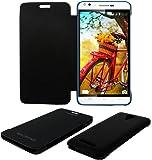 Acm Flip Case for Karbonn Titanium Machfive Mobile Front   Back Flap Folio Cover Black available at Amazon for Rs.179
