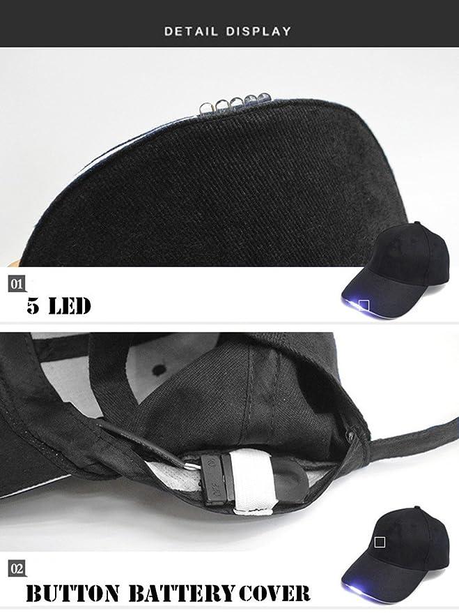 ARDUX LED sombrero de faros delanteros, manos libres, gorra de béisbol con faros delanteros linterna para unisex, caza, pesca, camping, senderismo, correr, ...