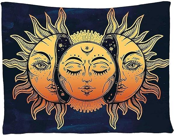Walkretynbe Alfombra y tapiz Sunmoon para colgar, tapiz