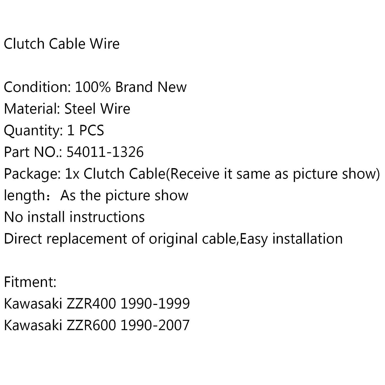 Areyourshop Clutch Cable 54011-1326 For ZZR400 1990-1999 ZZR600 1990-2007