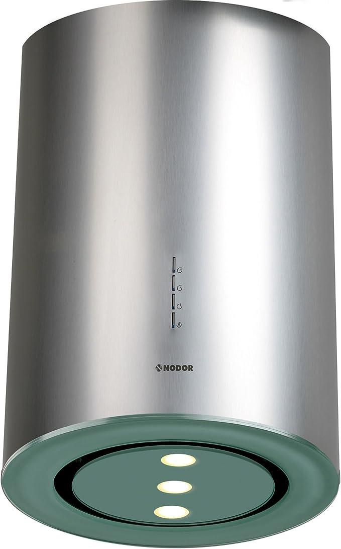 Nodor Isla Sol - Campana (Metal, 1 piezas, 400 mm, 400 mm, 700 mm, LED) Acero inoxidable: Amazon.es: Hogar