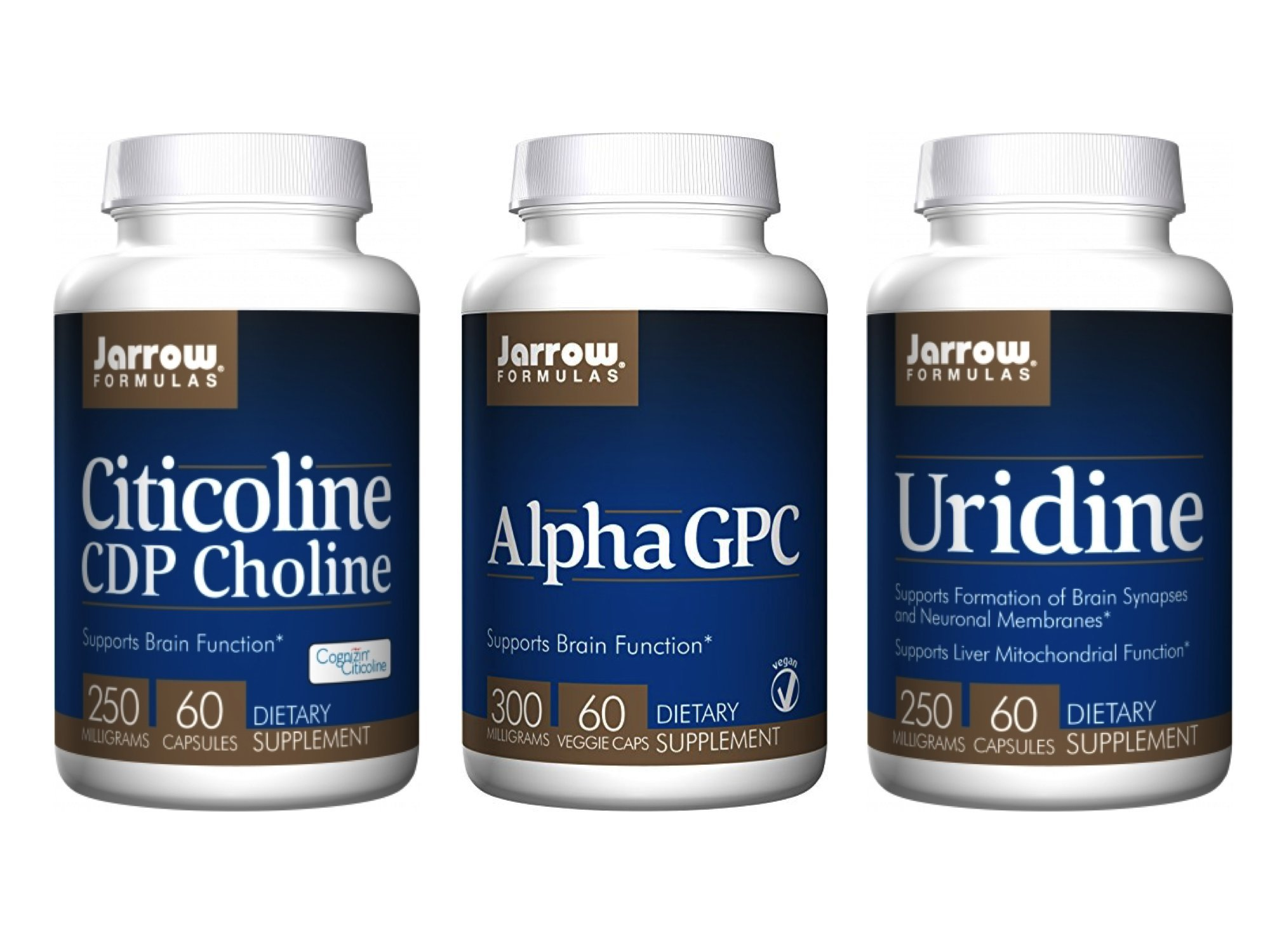 Jarrow Formulas Supplement Bundle (3 Items) – CDP Choline + Alpha GPC + Uridine
