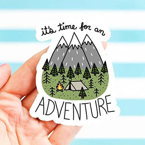 Adventure sticker hiking helmet vinyl sticker bike stickers nature bumper stickers