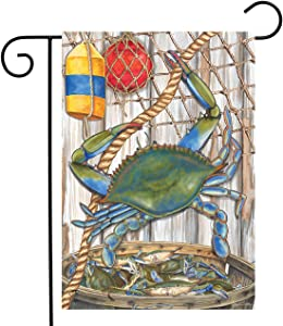 "Briarwood Lane Blue Crab Bushel Summer Garden Flag Nautical 12.5"" x 18"""
