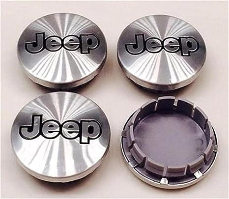 JREIJtukijirufg 52059522AA - Juego de 4 tapacubos de llantas de aluminio para Jeep Grand Cherokee Commander