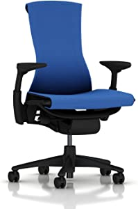 Herman Miller Embody Ergonomic Office Chair | Fully Adjustable Arms and Carpet Casters | Berry Blue Balance