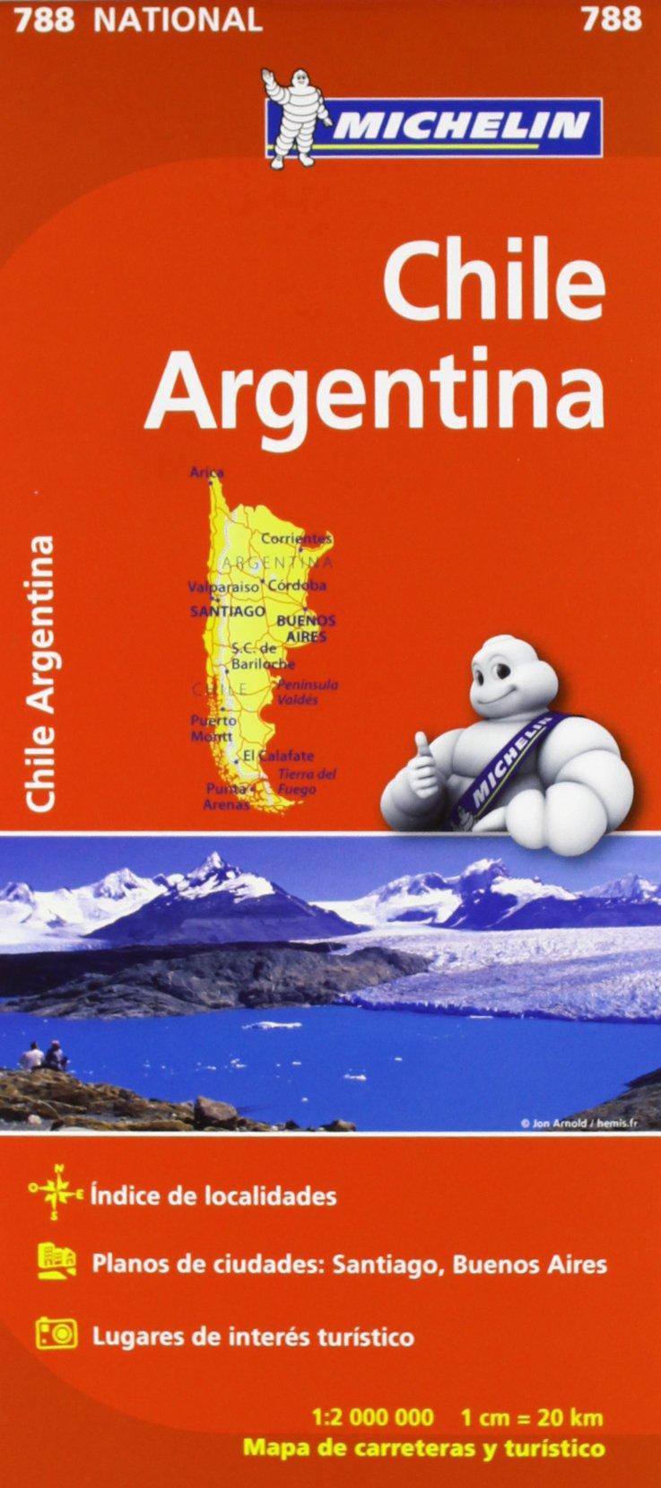 Chile Argentina Mapa National 788 Michelin 9782067185630