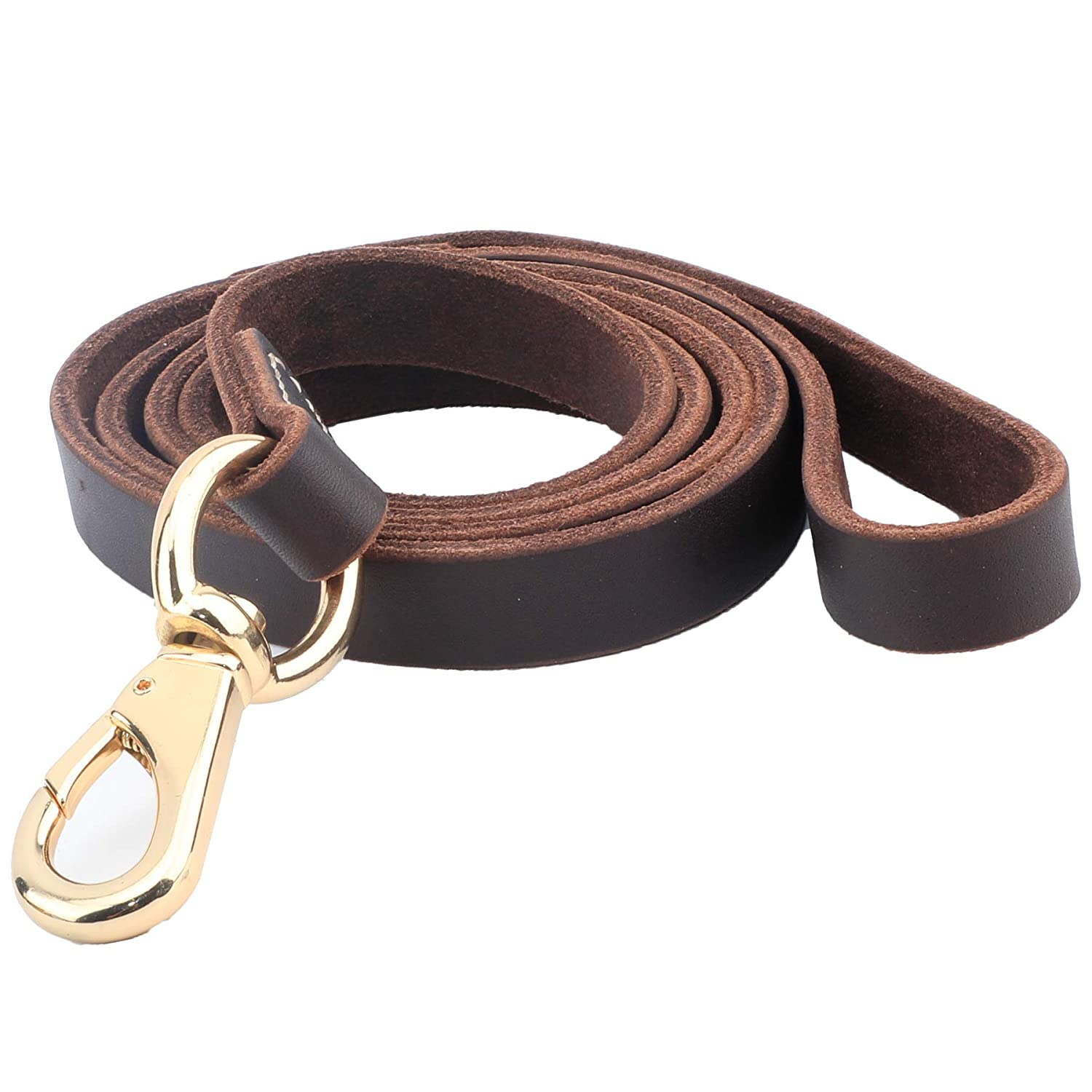 Brown 3 4''x5ft Brown 3 4''x5ft 48 Hour Sale  Leather Dog Leashes Brown 5 ft x 3 4 Inch Best Dog Leash Walking Training is Best for Medium and Large Dogs