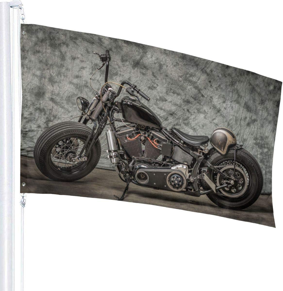 Emonye Harley Motorrad Cool Davidson Vintage BikeDekorative Gartenflaggen und Au/ßenbereich 91 x 365 m Flagge f/ür den Innen