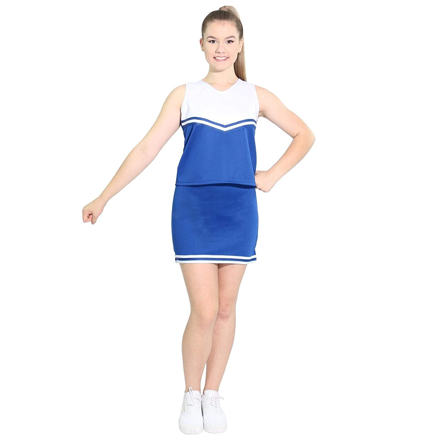 Danzcue Womens V-Neck Cheerleaders Uniform Set