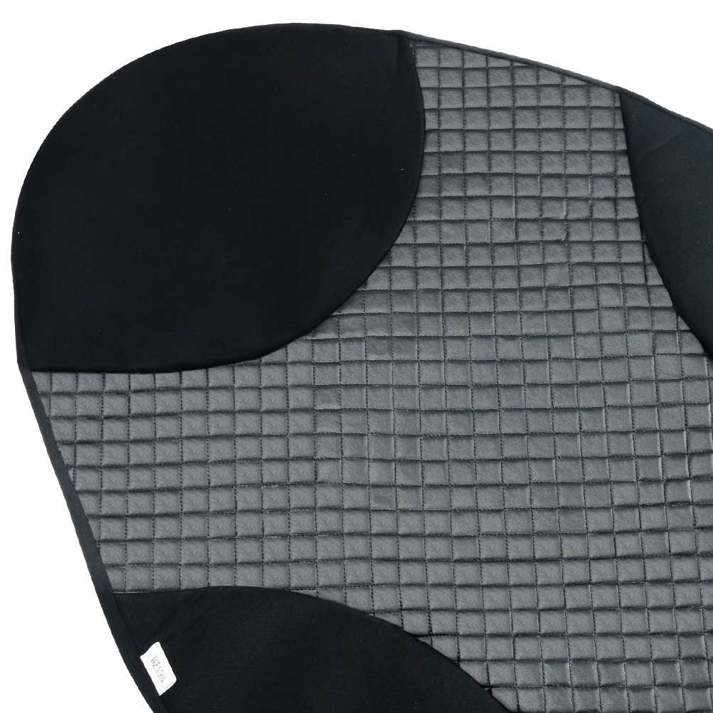 Black Set of 2 HANSBO M AULLY PARK Universal Fit Leatherette Bucket Seat Covers