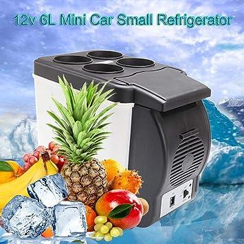 htfrgeds 6 litros 2 en 1 Mini refrigerador Caja fría Caja Caliente ...