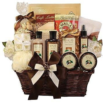 Essence of luxury warm vanilla spa bath and body gift basket set essence of luxury warm vanilla spa bath and body gift basket set negle Gallery