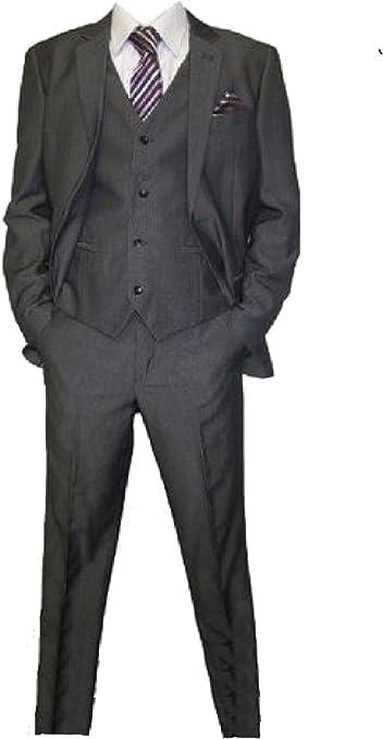 New Fashion Edel 5 teilige Kinder Anzug in Anthrazit für Jungen in Gr. 92 158