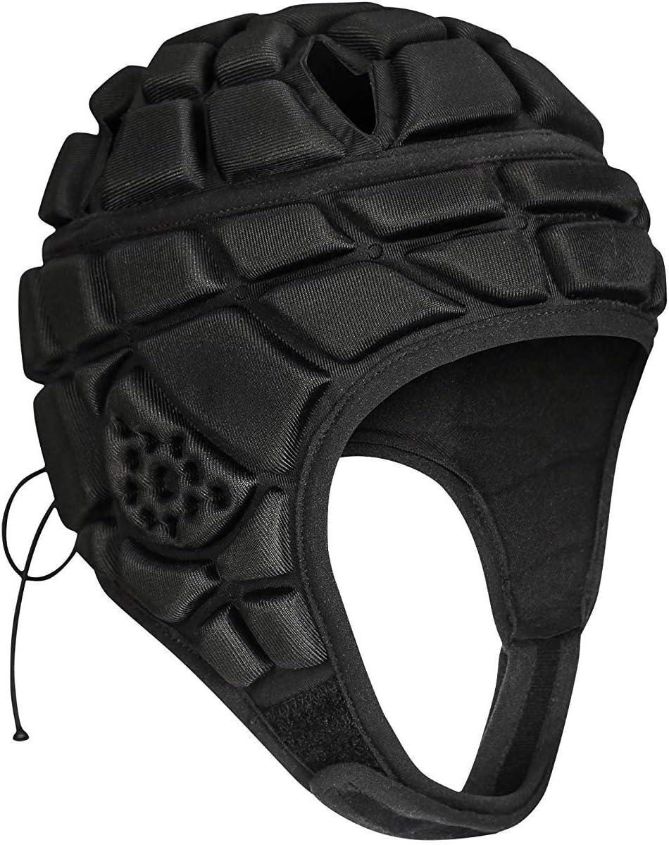 TUOY Youth Soft Shell Protective Headguard Headgear for Rugby Head Cap Flag Football Helmet Protective Gear Soccer Goalie Head Protector : Sports & Outdoors