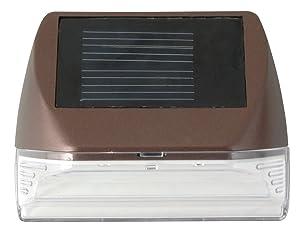 Moonrays 95028 Mini Solar Deck Wall Mounted Sconce (Warm, White LED Light, Rectangle)