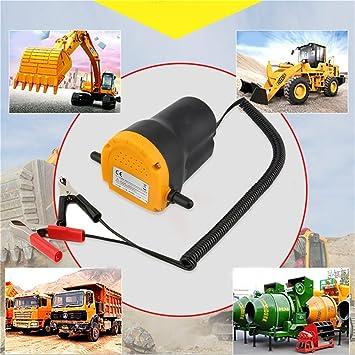Bomba de aceite del motor del coche 12V bomba de transferencia de succión del extractor del combustible de gasolina del extractor (Color amarillo y negro): ...