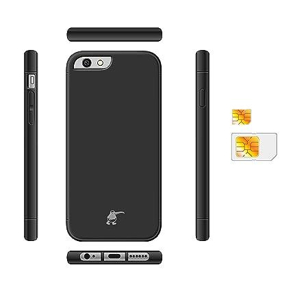 Kiwibird Dual Sim Mit Schwarz Schutzhülle Für Apple Iphone 6s Plus Only