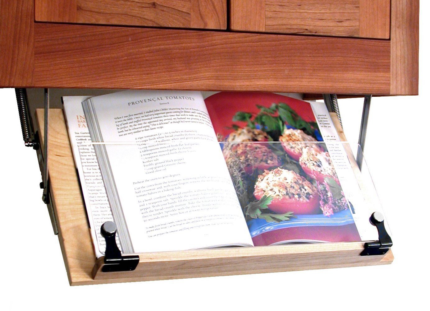 Clear Solutions Under Cabinet Mounted Cookbook Holder - Wood - Made in The USA by Clear Solutions