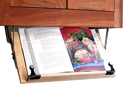 Merveilleux Clear Solutions Under Cabinet Mounted Cookbook Holder   Wood   Made In The  USA