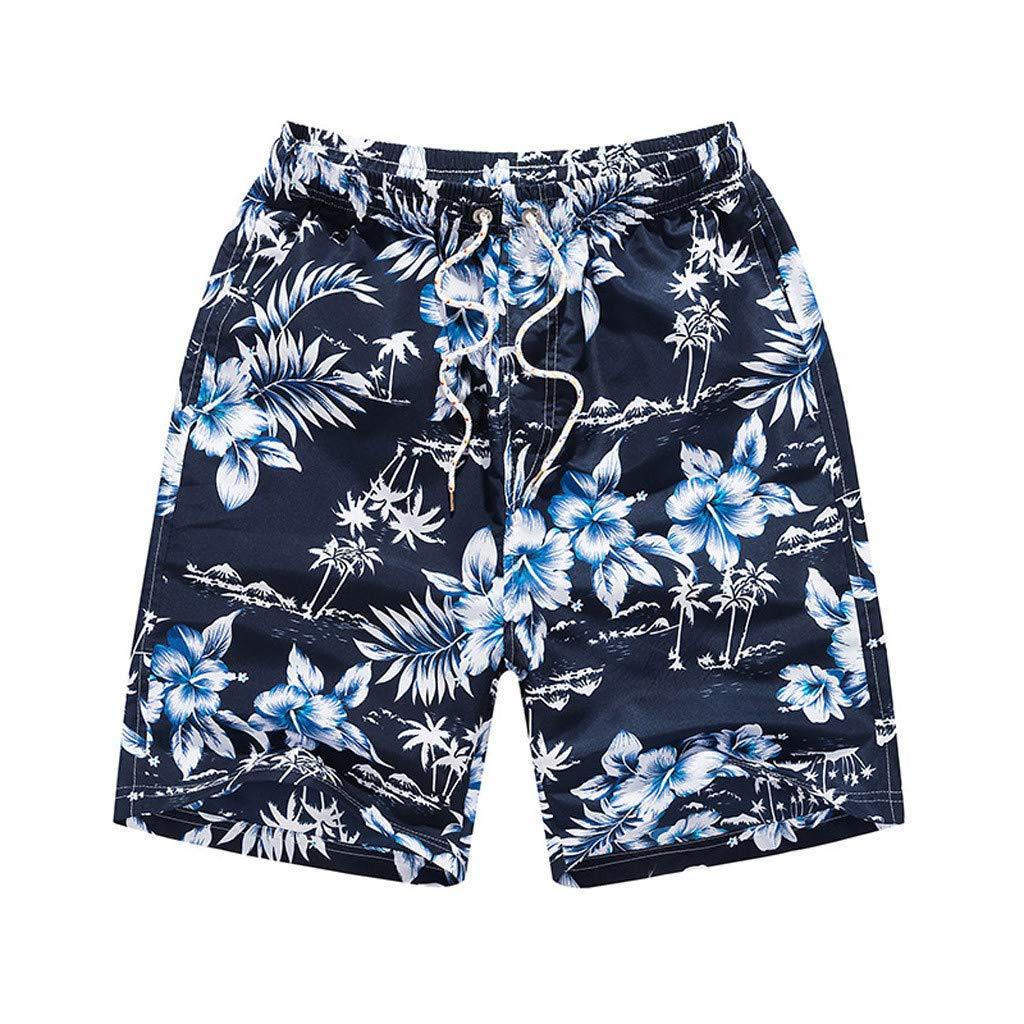 ZOMUSAR 2019 ❀ Mens Summer Casual Fashion Quick-Drying Printing Loose Beach Sports Shorts Pants