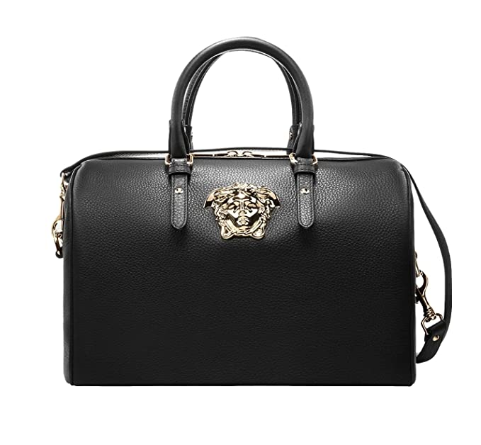 Image Unavailable. Image not available for. Colour  Versace Women s Calf  Leather Palazzo Duffle Bag DBFE469 Black 03f6e02f09975