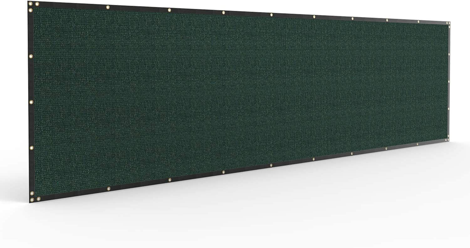 Windscreen4less Heavy Duty Privacy Screen Fence in Color Solid Green 5' x 50' Brass Grommets 150 GSM - Customized