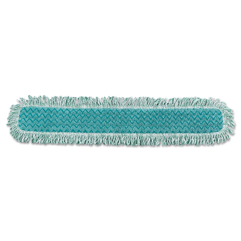 -- HYGEN Dry Dusting Mop Heads with Fringe, 36'', Microfiber, Green, 6/Carton