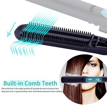 Show Liss Professional Vapor, iones de pelo plancha para el pelo cepillo keramikbeschichteten glättb pelo alisado Cepillo con 5d Calefacción dientes, ...