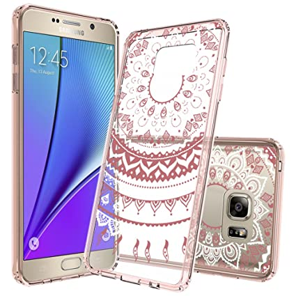Samsung Galaxy Note 5 Case with Screen Protector,AnoKe Scratch Resistant Mandala Flower Girls Women Acrylic Hard Rubber Slim Fit TPU Clear Phone Cover Cases Amazon.com: