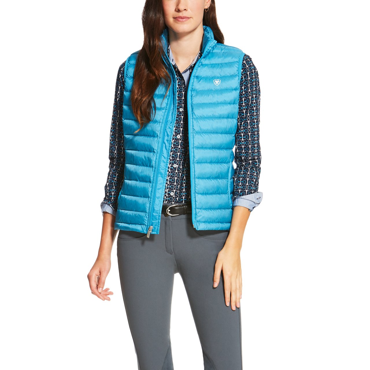 Ariat Women's Down Outerwear Vest Ariat Womens Code IDEAL_DOWN_VEST_W_APP