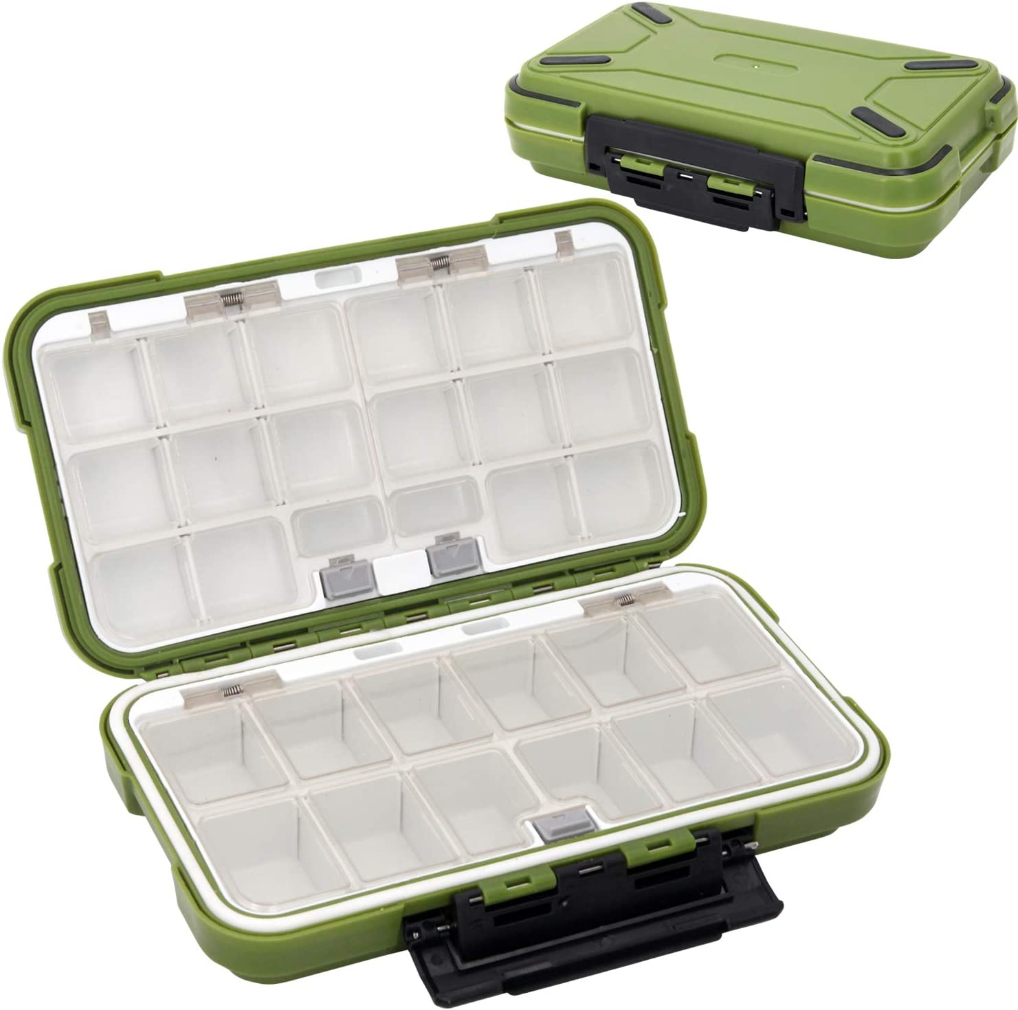 30 Compartments Waterproof Fishing Lure Bait Tackle Storage Case Box