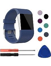 Fitbit Surge Bands, mtsugar Original Version Adjustable Replacement Wristband for Fitbit Surge/Wireless Activity Bracelet Sport Wristband