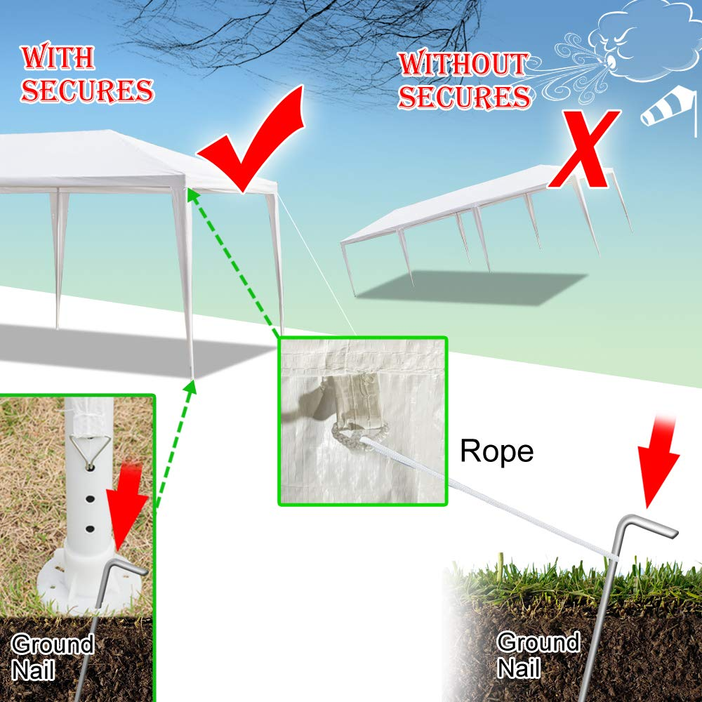 Teekland 10'x30' Outdoor Canopy Party Wedding Tent,Sunshade Shelter,Outdoor Gazebo Pavilion with 8 Removable Sidewalls Upgraded Thicken Steel Tube (10' x 30' / 8 Removable Sidewalls-1) by Teekland (Image #7)