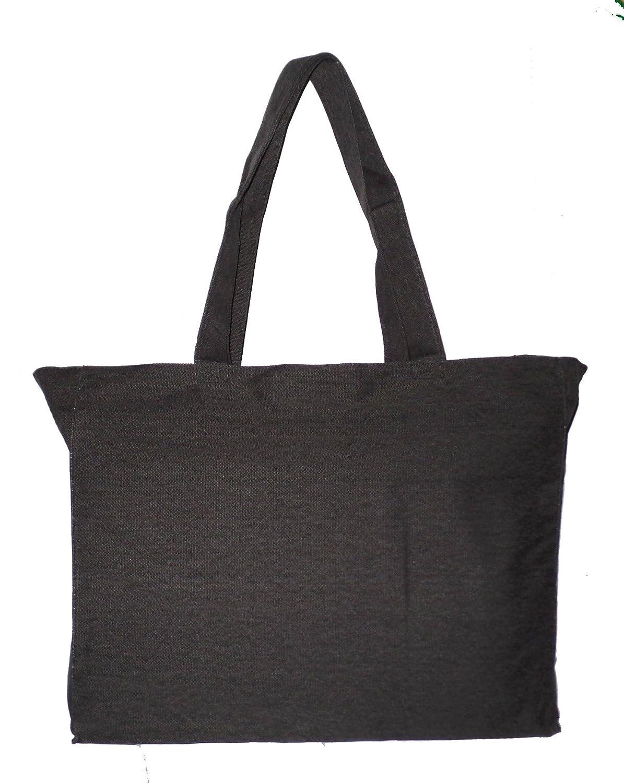 Amazon.com  Extra Large Travel Day Tote Bag Heavy Duty Cotton Twill Zip Top  (Medium Gray)  101 Beach 03808ec7bf860