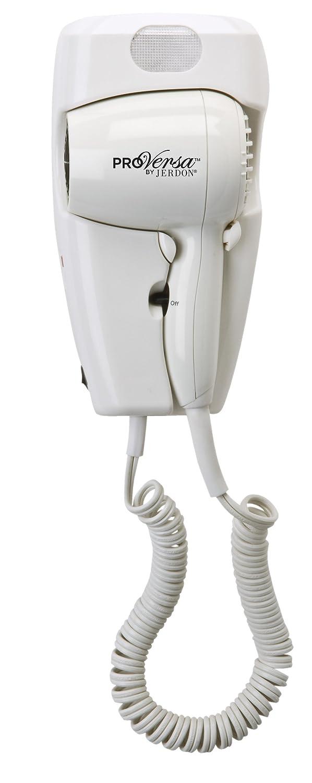 Jerdon Pro Versa Jwm8cd Hard-Wired Wall Mount Hair Dryer, 1600-Watts, White