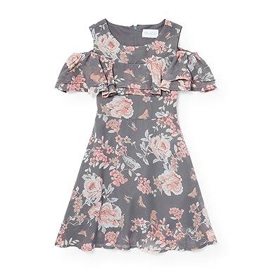 e624e4b7fc03 Amazon.com: The children's Place Girls Cold Shoulder Dress: Clothing