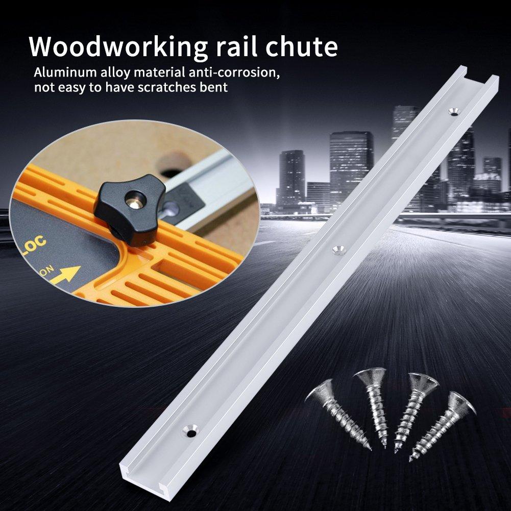 T-Track,Jectse 400mm alliage daluminium T-Slot pour la construction de montages et de fixations pour votre scie /à bras radial,votre perceuse /à colonne et diverses autres machines