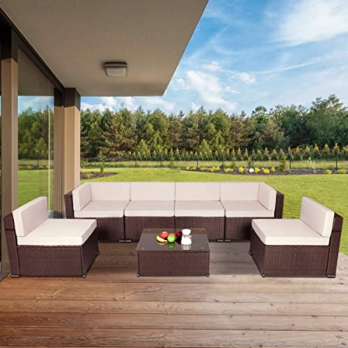 U-MAX 7 Piece Outdoor Patio Furniture Set