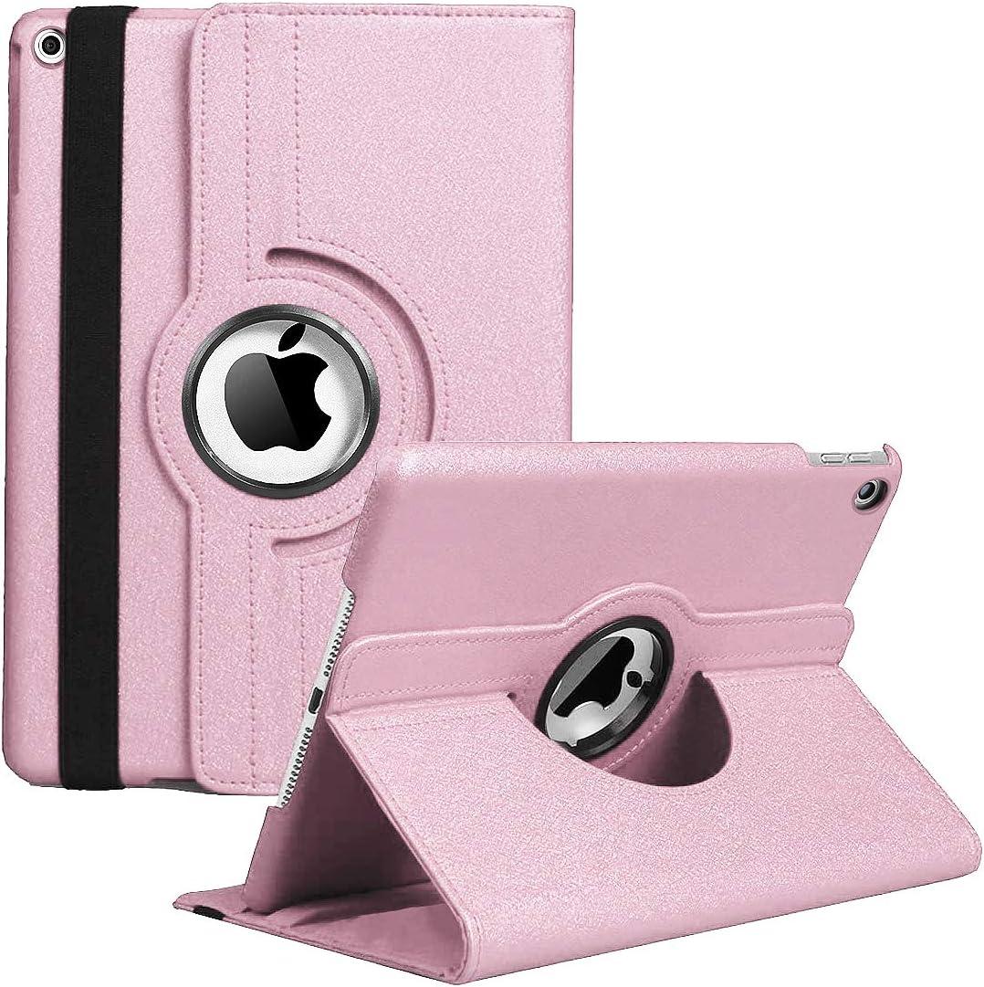 iPad Mini 1/2/3 Case - 360 Degree Rotating Stand Case Cover with Auto Sleep/Wake Feature for iPad Mini 1/iPad Mini 2/iPad Mini 3 (Rose Gold)