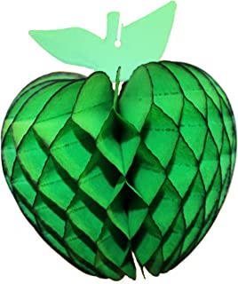 product image for 3-Pack 7 Inch Honeycomb Apple Decoration, Dark Green