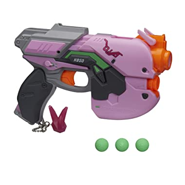 NERF Overwatch D.Va Rival Blaster with 3 Overwatch Rival Rounds