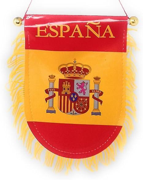 Banderín Bandera España Flecos con Ventosa Pegar en Cristal Coche ...