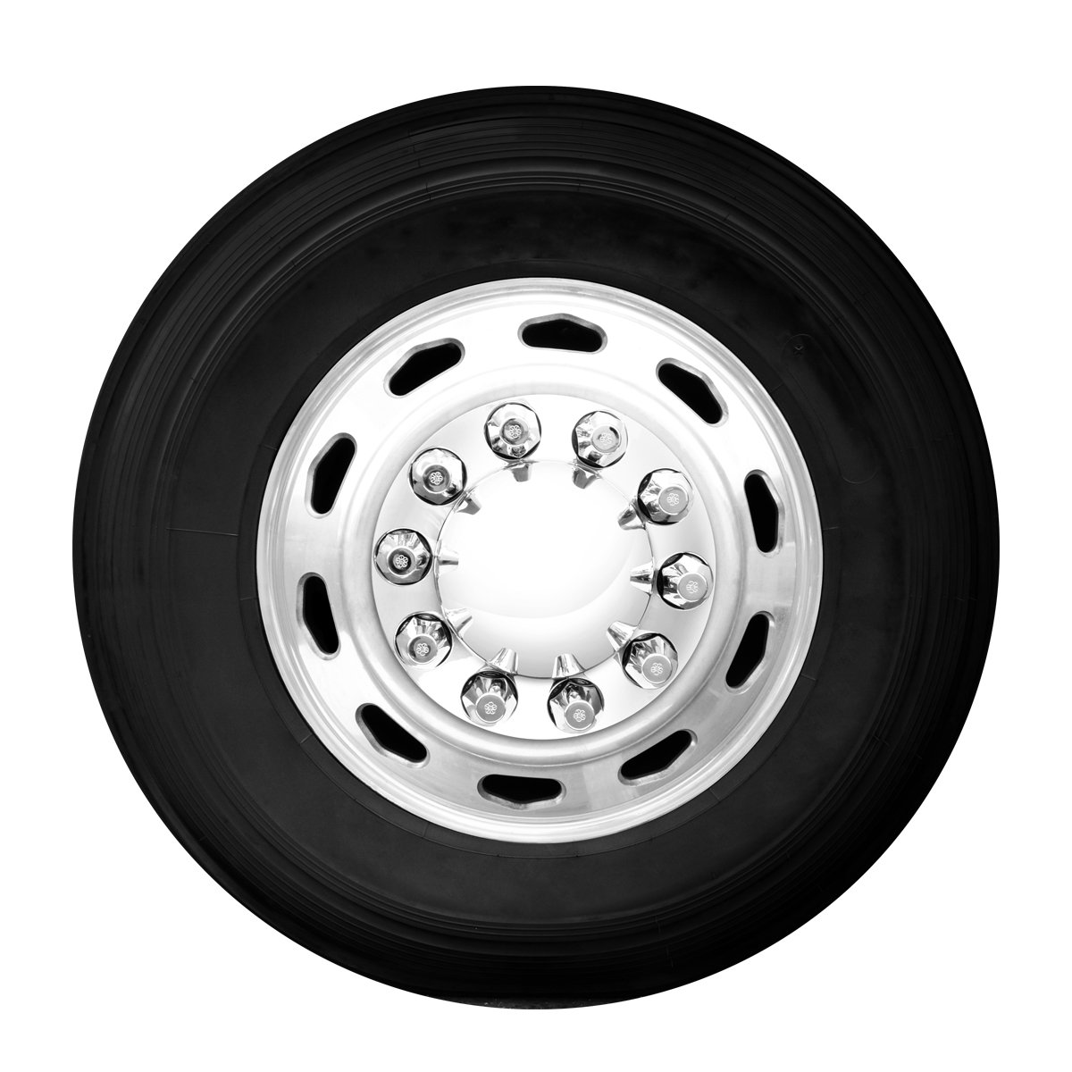 Grand General 40230 Chrome Plastic Complete ABS Axle Cover Set 2 Front and 4 Rear with Standard Hub Caps and Screw-On 33mm Lug Nut Covers for Trucks