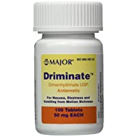 Driminate Generic for Dramamine Motion Sickness 50 mg Anti Nausea 100 count