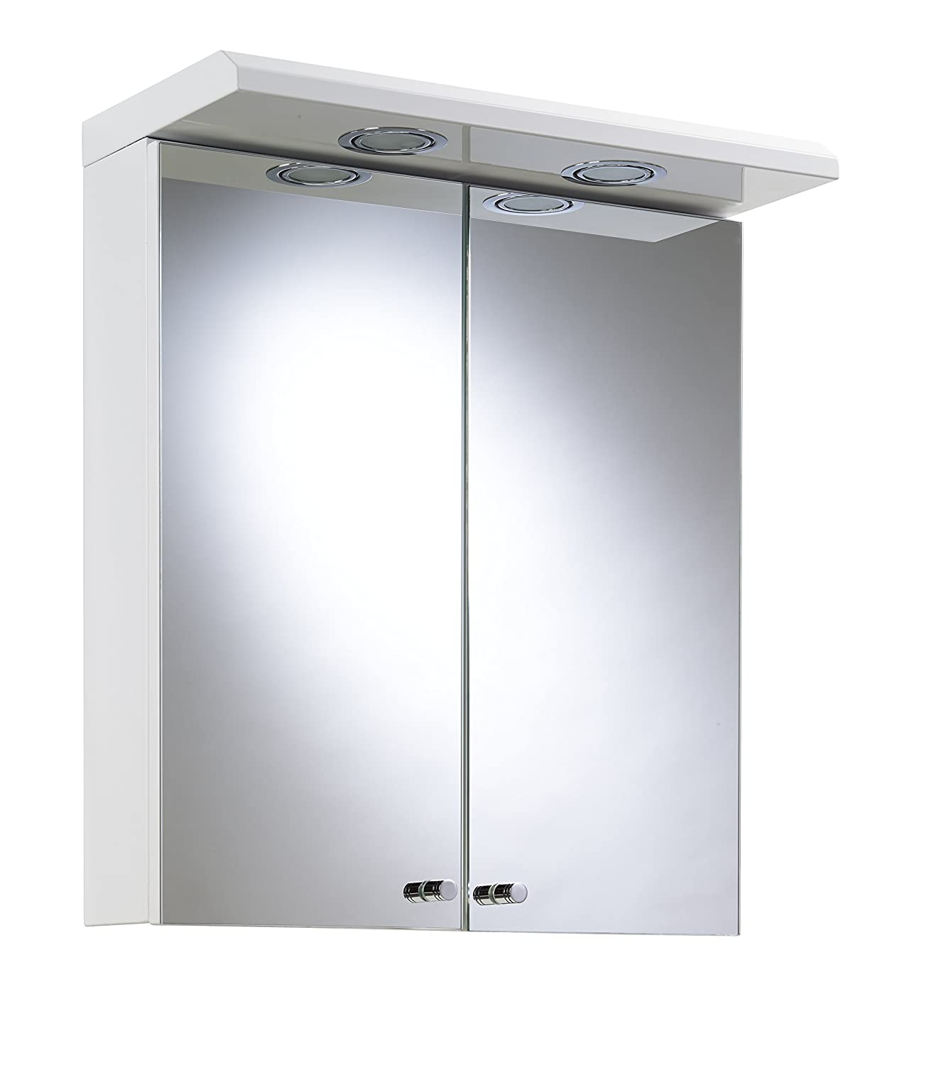 Croydex Shire Double Door Illuminated Cabinet, White, 530 x 450 x 230 mm WC266222E