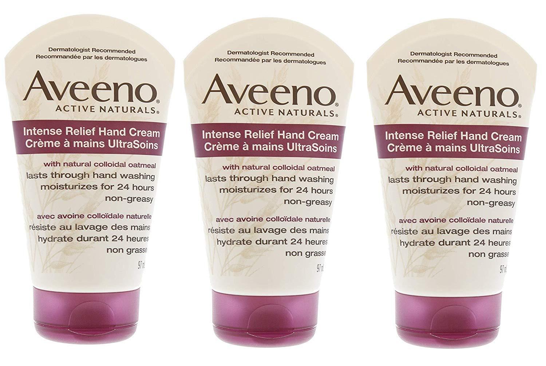 AVEENO Active Naturals Intense Relief Hand Cream 3.50 oz (Pack of 3)