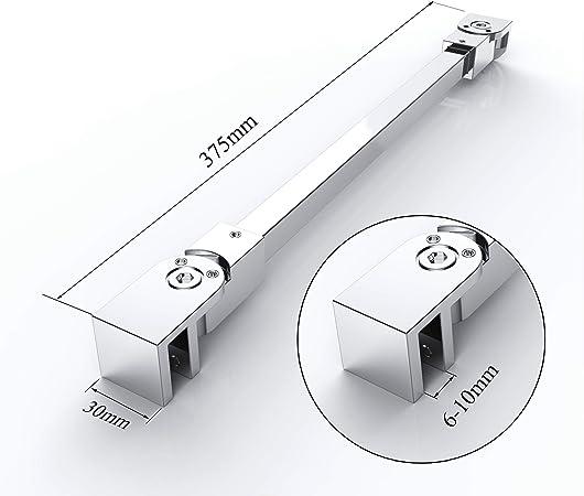 bieleta Asidero ángulo de acero inoxidable flexible ajustable pared montaje Mampara de ducha cabina gs1137: Amazon.es: Bricolaje y herramientas
