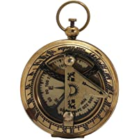 Shalinindia Sundial and Compass - Travel Accessories - Antique Inspired Design